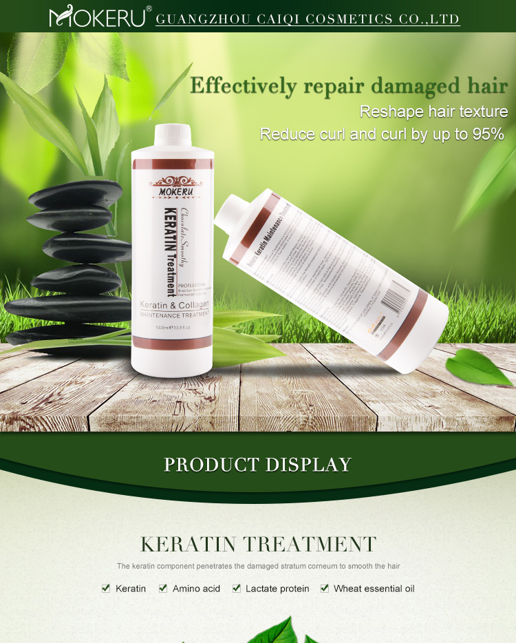 Custom Logo Private label Professional 1000ml hair keratin treatment formaldehyde free bio keratin brazilian straightening cream