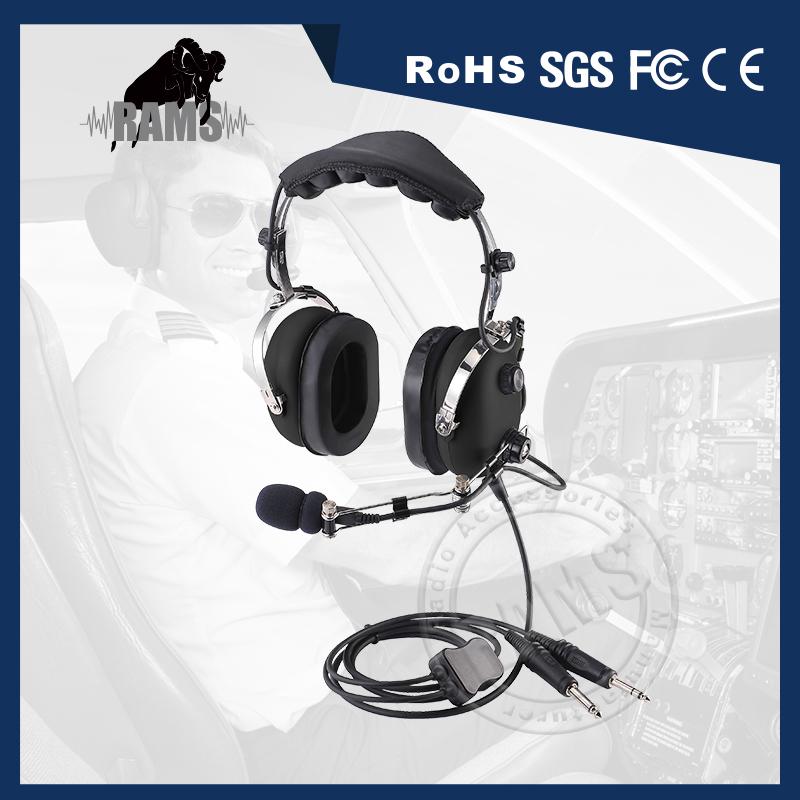 fd9b2948df0 Metal Boom Cheap Head Phone General Aviation Pilot Headset Airline Headsets