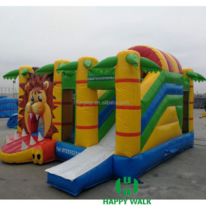 Lion pvc inflatable adult bounce house for sale