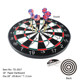 "18"" x 1"" Paper Wound Dartboard Game Room Dartboard Set with 6 Darts 2017"