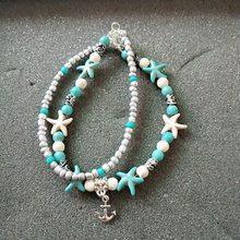 Huitan винтажные Якорные волнистые летние пляжные браслеты на ногу, классические бусы, круглые с милым символом, модные стильные браслеты для ...(Китай)