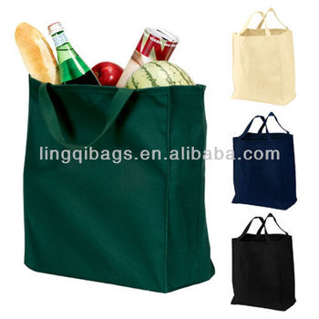 Recycled inexpensive cotton twill cloth grocery bags wholesale