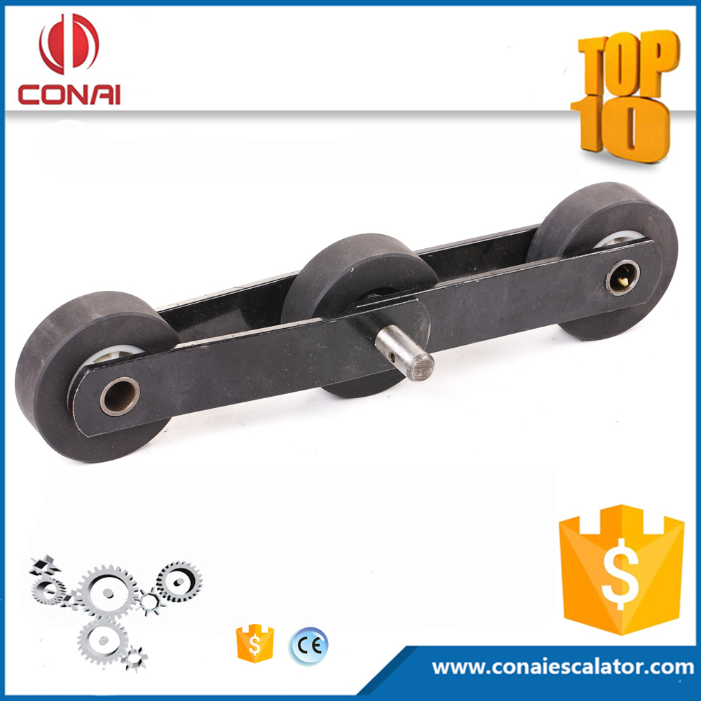 CNCA-036 Stock black escalator step chain with 75x22 rollers 133.33mm step chain in promotion