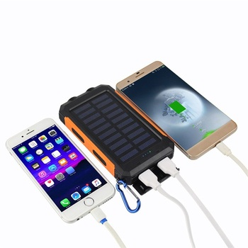 USA Free shipping Solar Charger Power Bank Waterproof with high capacity