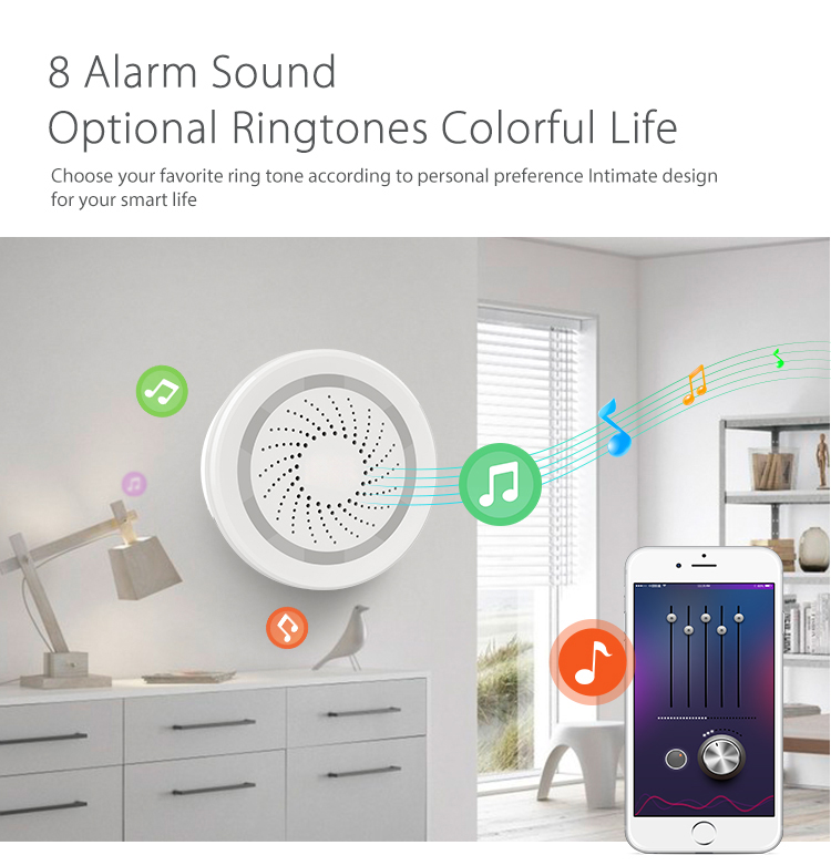 Mini Wireless Wifi Remote Control Warning Siren Alarm Sensor Supports Smart  Home Automation System - Buy Warning Siren Alarm,Warning Alarm Siren,Home