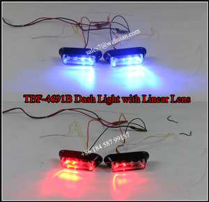 LED Car Decorates Lights/3 Watts LED Strobe Deck Light/ Vehicle Red Blue Flasher TBF-4691B4