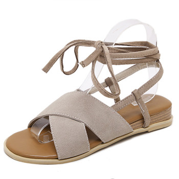 38e2c78512f1 cheelon shoe low high heel flat sandals charming strappy suede leather  ladies gladiator sandals women shoes