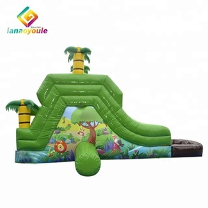 Forest animals cheap commercial amusement equipment mini inflatable kids water slide