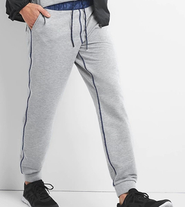 cotton fleece sweat jogger with zip custom design back pocket jersey jogger pants
