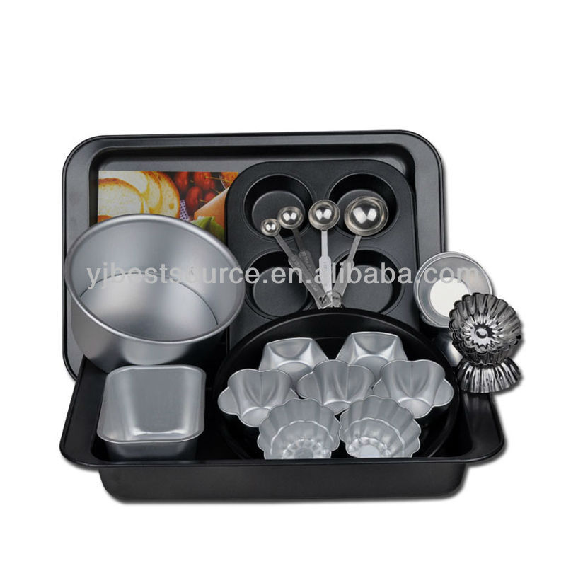 Steel several non-stick cake baking pan set in good quality