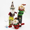 Factory direct supplier new designed knitted red wine christmas wine bottle cover