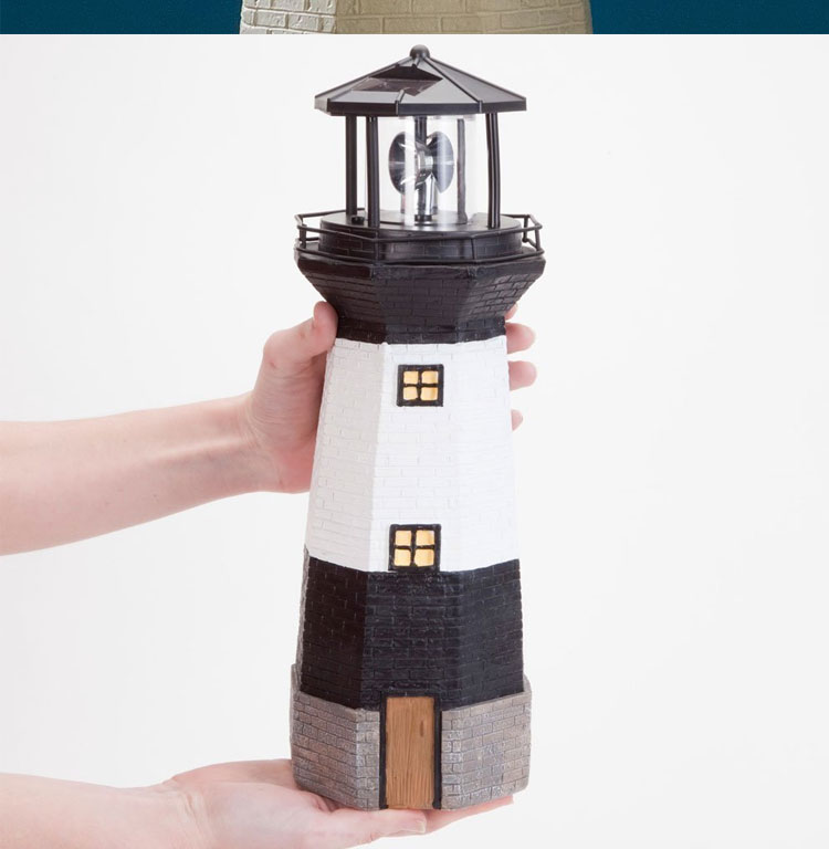 Solar Powered Lights Outdoor Garden Lighthouse