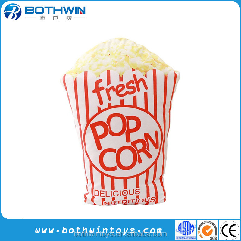 "18"" print Microbead stuffed Snack popcorn pillow"