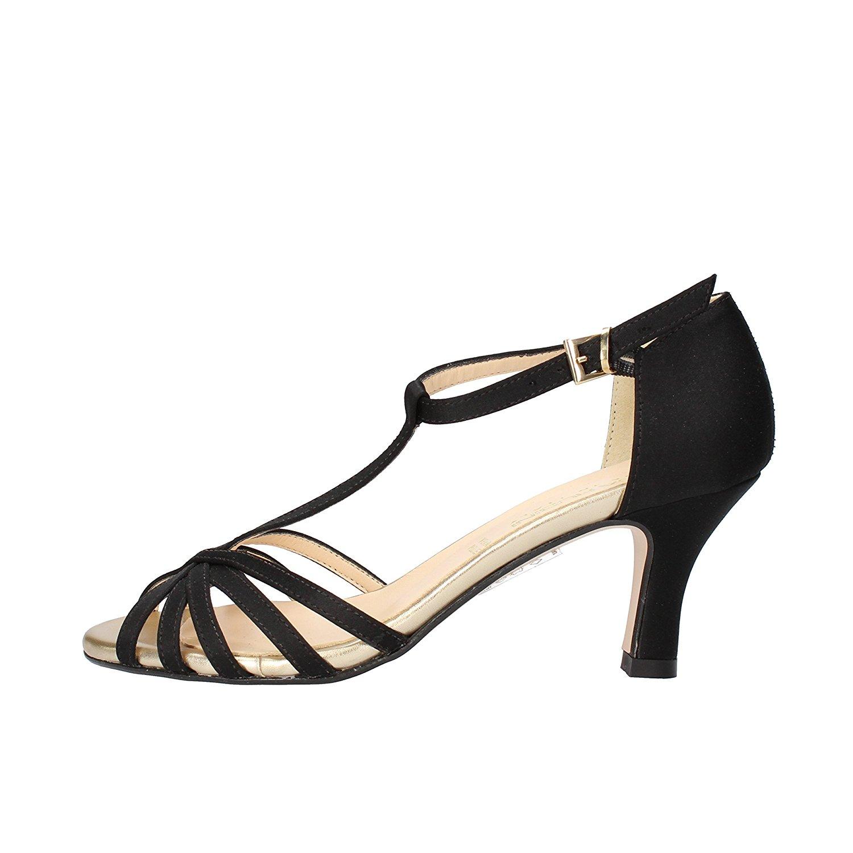 Olga RUBINI Sandals Woman 7 US/ 37 EU Black Satin
