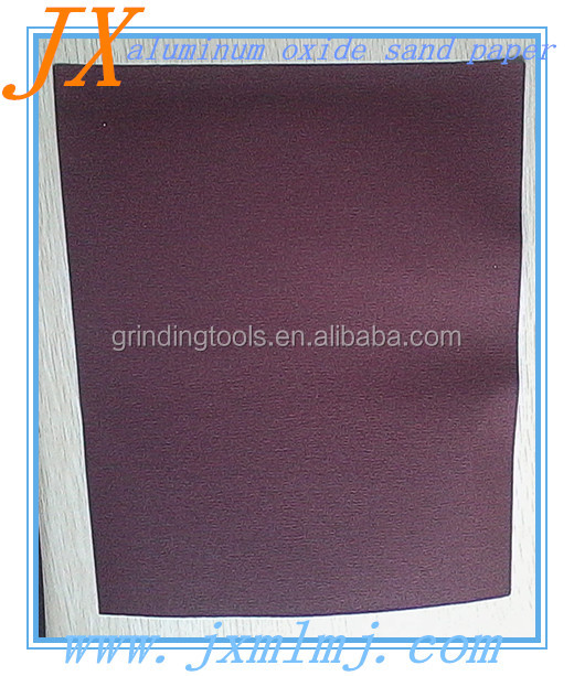 Aluminum oxide waterproof sanding paper for steel buffing