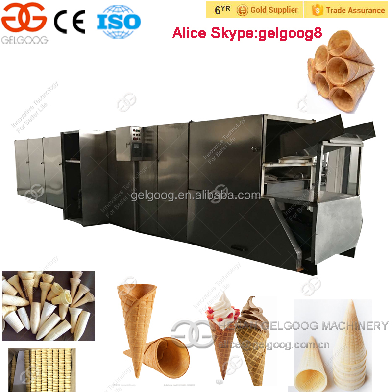 Henan Gelgoog Full Automatic Paper Cone Making Machine Icecream Cone Machine