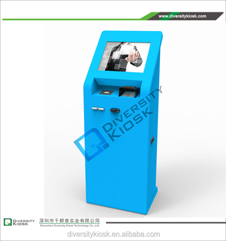 floor poster stand arcade machine coin selector for starbucks coffee kiosk