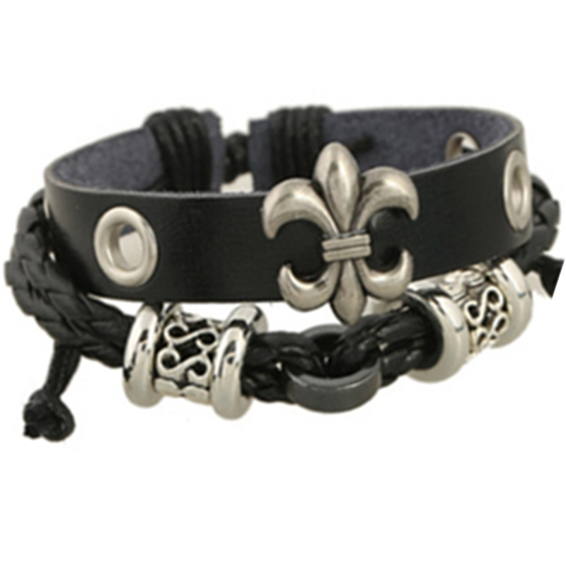 SH-5 Personality Punk Leather Bracelets Fashion Leather Bracelets Summer Gifts For Friends Hot Selling Models Jewelry