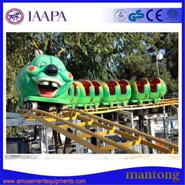 2016 New Design Mini Roller Coaster Caterpillar Rides With 2 Loops Track