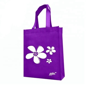 Branded 100% new non woven fabric material non woven cloth tote bag with loop handle