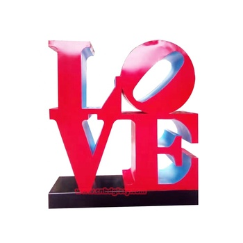 Best Selling Metal Crafts Stainless Steel LOVE Letter Sculpture