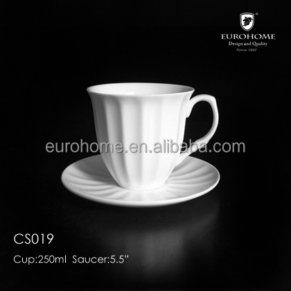 200ml porcelain coffee cup and saucer set for hotel and banquet CS019