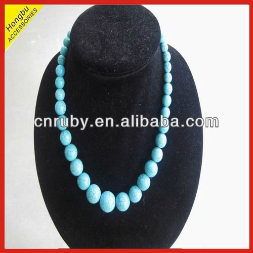 Real turquoise beaded jewelry