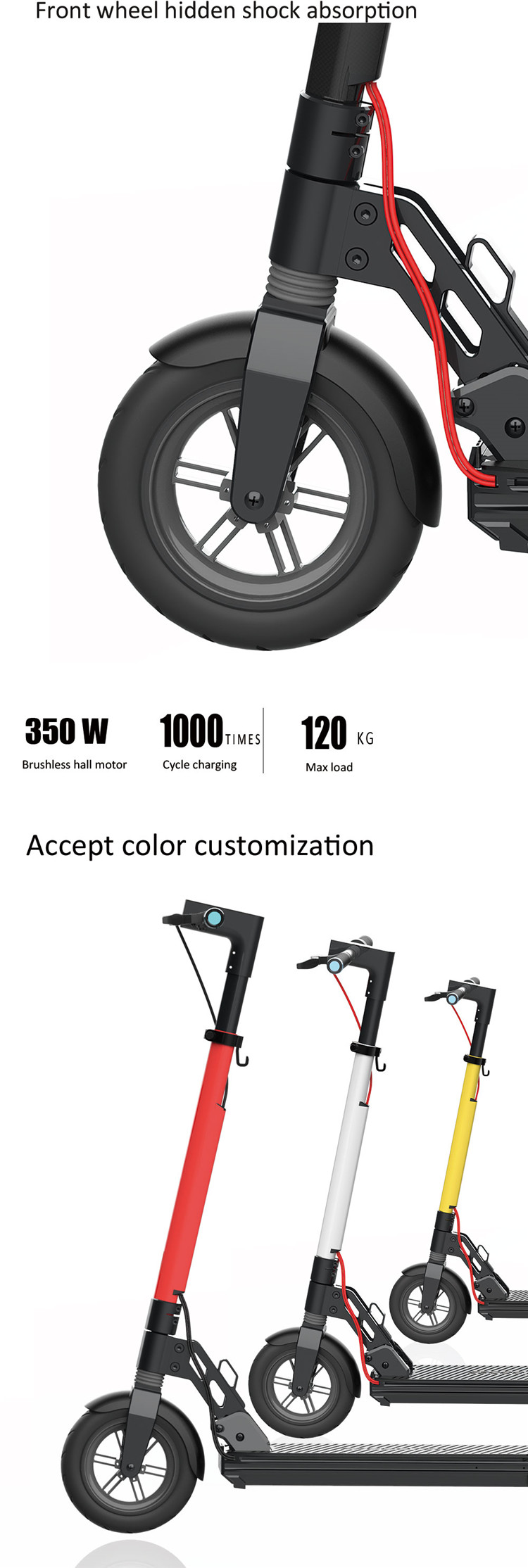 OEM/ODM Accepted Fantastic Battery Removable Fitrider Electric Kick Scooter with GPS 4G Communication module  For Shared scooter