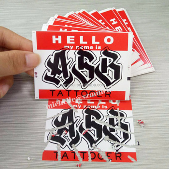Single Custom Sticker Printing
