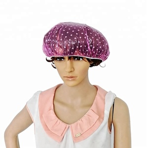 Factory outlet LDPE plastic waterproofing Shower cap Hotel shower cap Disposable shower cap