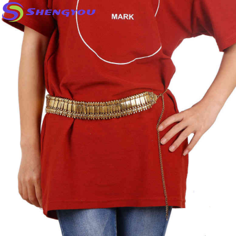 Belly Dancing Style Gold And Sliver Colthes Bib Women Belt