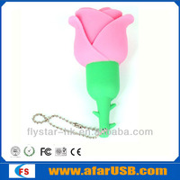 New design soft PVC USB /Fashion Lovely Rose USB pen /Cute memory stick