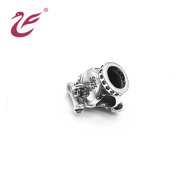 Wholesale Custom Jewelry Bule Stone Bead Silver Charms