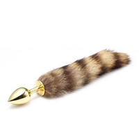 Fox tail anal plug with difference length tail available