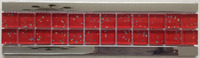 new arrival red metallic glass mosaic border line bathroom floor tile