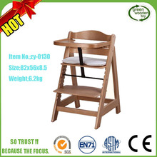 Adjustable Kids feeding Children Table Hairdressing Wooden Baby High chair