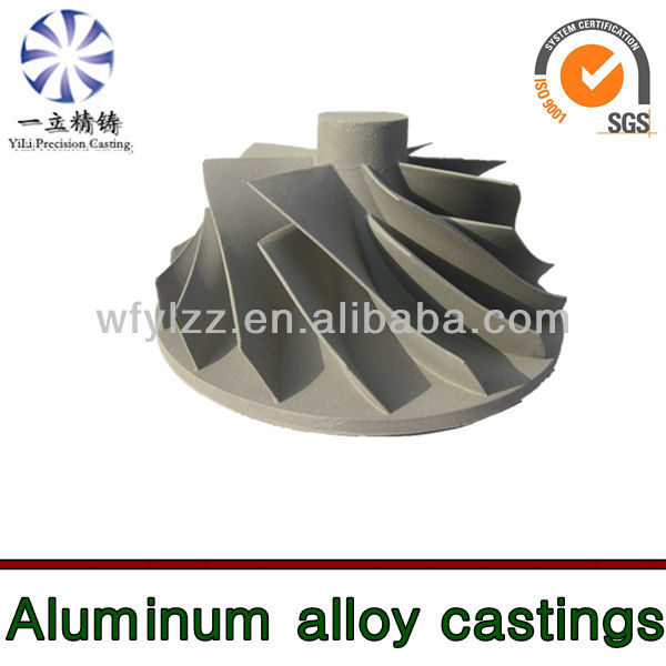 Aluminum alloy blower impeller used for marine equipment