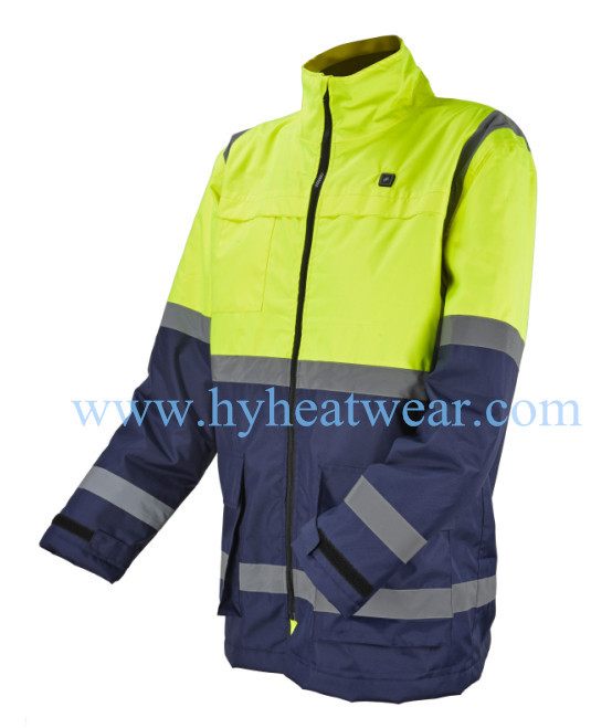 Heated outdoor working clothing