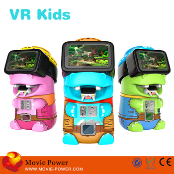 Colourful LED Lights Arcade Games Machines vr education for kids vr game for kids sale in longmei Panyu