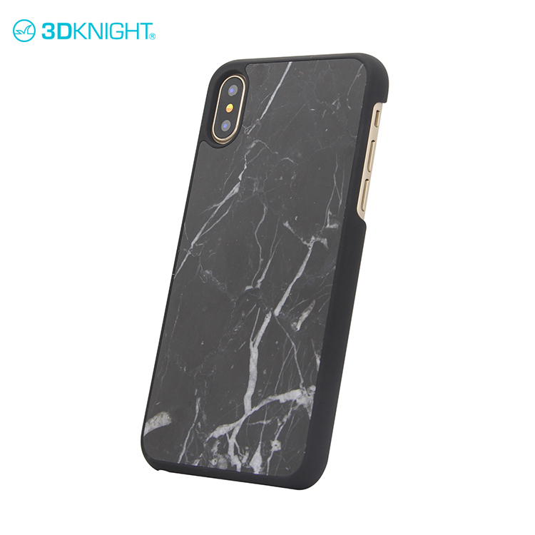 Real black marble 3d mobile phone covers marble for iphone x tel phone hardcase