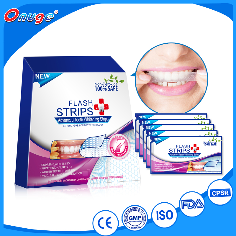 onuge dry oral strips, tooth/ teeth whitening strips
