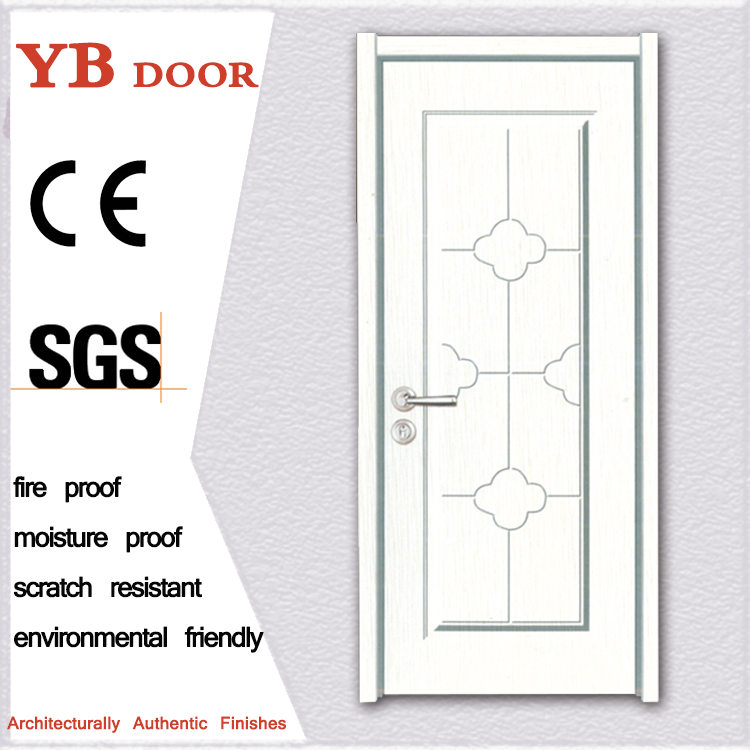 iran OEM house residential entrance pvc sheet wooden doors for sale YBPD 6519