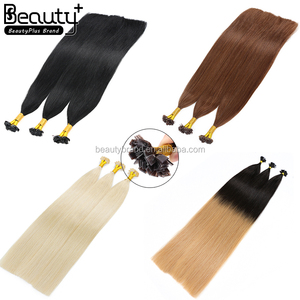 Top Products 100% 8a Grade Mink Brazilian Human Hair Double Drawn Russian Keratin Hair Extensions Flat Tip Hair