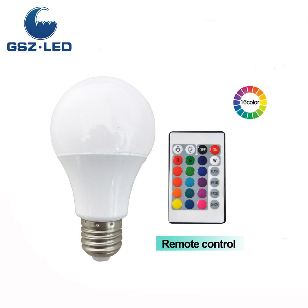 4W Festival Decoration RGBW <strong>E27</strong> LED Lighting Bulb With Remote Control