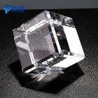 Wholesale blank lead crystal glass rubik's cube etching angel