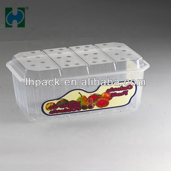 Custom skidproof Disposable fruit And Vegetable packaging plastic storage boxd