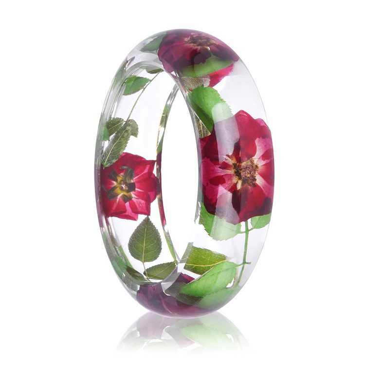 NX-02 Latest Design Vogue Jewellery Fashion Design Bracelet Bangle Custom Lucite Clear Resin Bangle