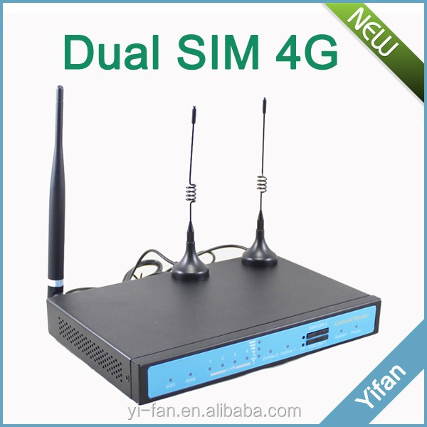 YF360D-L 3g/4g dual sim card VPN router gsm modem with Ethernet Wan Lan port