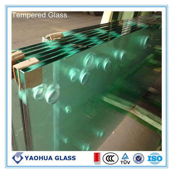 High Quality CE Tempered Table Glass Table Beveled Edge Laminated Glass  Table Top Glass Support