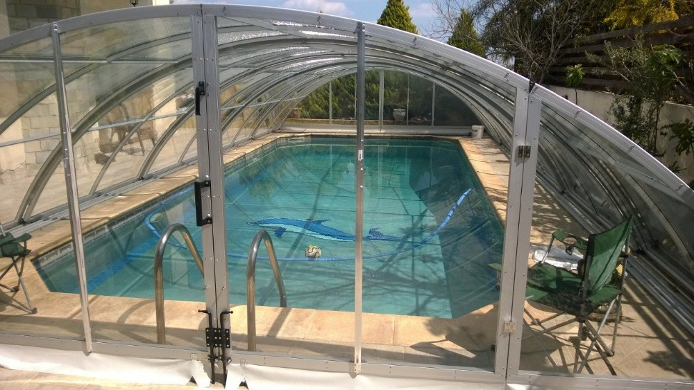 Garden Swimming Pool Dome Enclosure/ Telescopic Pool Shelter Model D 5m By  10m - Buy Dome Enclosure Pool Spa Swimming,Swimming Pool Dome Cover,Pool ...